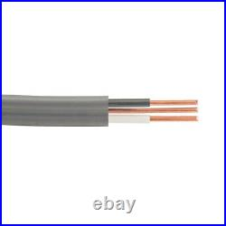 1000' 14/2 UF-B Wire with Ground Copper Underground Feeder Cable Gray 600V