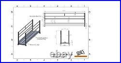 10ft 3m Walkthrough Sheep trough Feeder Galvanised Feed Barrier