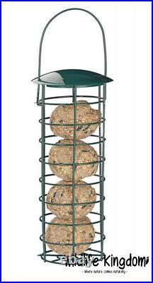 2 x Heritage Wild Bird Hanging Fat Ball Feeder Garden Suet Feeders Metal 10