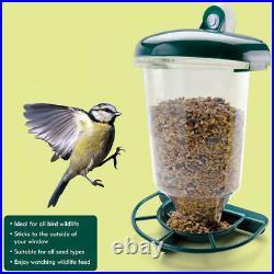 2X Bird Feeder Window Ledge Wildlife Pet Feeding Station Nature Plastic Outdoor