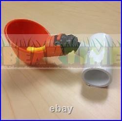 50 Chicken Water Cups + Tee PVC Fittings Chicken Plastic Automatic Drink Drinker