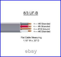 8/3 UF-B x 60' Southwire Underground Feeder Cable