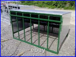 8x6' Calf creep feeder. Complete with bird flaps & 3PL. Shelter