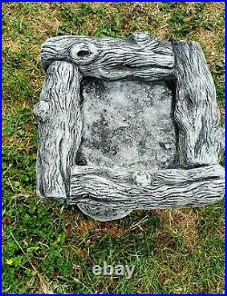 Beautiful Black SQUIRREL BIRD BATH FEEDER Stone Highly Detailed Garden Ornament