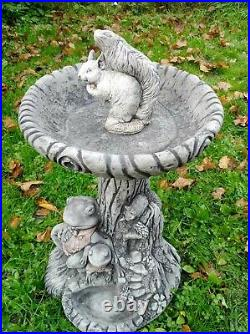 Beautiful FROG BIRD BATH FEEDER Highly Detailed Bird Table Stone Garden Ornament