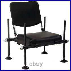 Behr Feeder-Sitz Deluxe mit Rückenlehne Angelkoffer Angelsitz Sitzkiepe