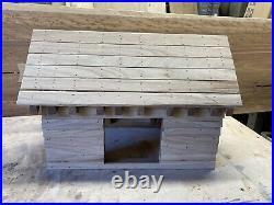 Bespoke Oak Frame Barn Bird Feeder, Waney Edge Oak, Bird Table, bird feeder