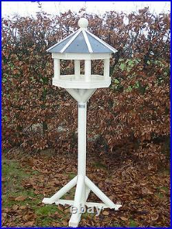 CREAM OCTAGONAL SLATE ROOFED Bird Table/Feeder Premier Range