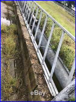 Cattle Feed Barrier + Trough Feeder Galvanised Large Excellent Condition SALE