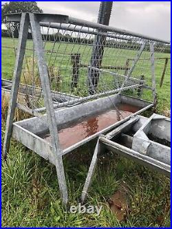 Cattle Hanging Trough Feeder Galvanised 6-15ft Variety Excellent Condition SALE