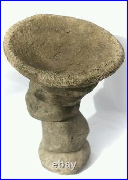 Contemporary pebble bird bath / bird feeder. H