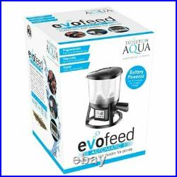 Evolution Aqua Evo Feed Automatic Pond Feeder Fish Battery Koi Auto Food Timer
