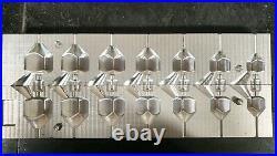 Fishing 7in1 Inline Dumpy Dice Lead Mould 1oz-4oz Cnc Aluminium
