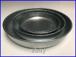 Galvanised Round Metal Chick Feeder Drinker Bowl Plate Dish Small Medium Large