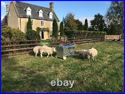 Galvanised Sheep Feeder 4 foot Hay Feeder on Wheels (Delivery Included)