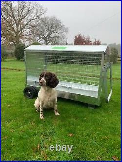 Galvanised Sheep Feeder 4 foot Hay Feeder on Wheels UK (Delivery Included)