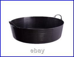 Genuine 35l Large Shallow Tubtrug, Tub, Bucket, Horse Feeder, Pet, Flexi