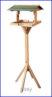 Heritage Wooden Bird Table Standing Birds House Feeder Garden Feeding Station