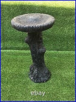 Latex and Fibreglass Log Effect Birdbath/Bird Feeders