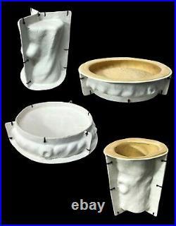 Latex and Fibreglass Mould of a Twisted Log Effect Birdbath/Bird Feeders