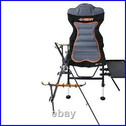Middy Carp Fishing Chair Adjustable with Feeder arm Rests Side Tray Full Set Up