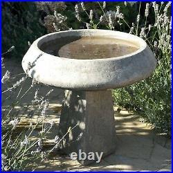 Modern & Simple Stone Bird Bath Garden Birdbath Feeder