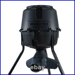 Moultrie 13339 30 Gallon Drum Gravity Tripod Wild Game Fish & Deer Feeder, Black