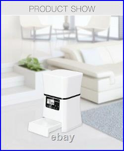 NEW 5L Automatic Pet Feeder Dog Cat Remote Control Iphone Android Smart Phone