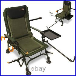 New Fishing Carp Chair Feeder Arm Pack Table Ultra Padded Adjustable Legs Ngt