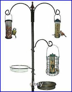 New Garden Wild Bird Feeding Station Water Bath Seed Tray Hanging Feeder Free