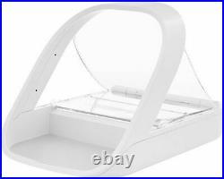 New NIB SureFeed SureFlap MPF001 Microchip Cat Dog Automatic Pet Feeder White