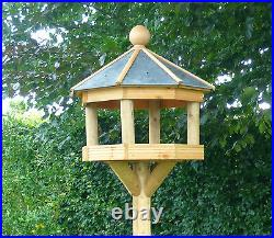 OCTAGONAL SLATE ROOFED Bird Table/Feeder EXTRA TALL STAND (Del. Easily arranged)