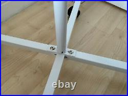 Parrot T-Bar Parrot Play Stand With Steps, Feeders And Tray White