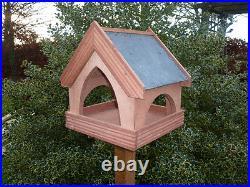SLATE ROOF Country Cottage Bird Table/ Bird Feeder BIRCH PLYWOOD PREMIER VERSION