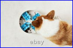 SLOW FEEDER INTERACTIVE DOG BOWLS MAKE MEALTIME FUN AND SLOW and Stops Bloating