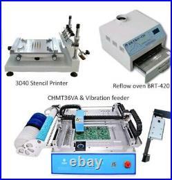 SMT Produktion linie CHMT36VA SMT Pick und Ort Maschine + vibration feeder