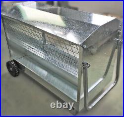 Sheep Feeder 4 foot Hay Feeder on Wheels (Delivery Included)