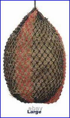 Shires Small Mesh Natural Slow Feeder Hay Haylage Net Laminitics Weight Control