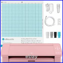 Silhouette Blush Pink Cameo 4 with Updated Autoblade, 3x Speed, Roll Feeder