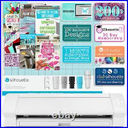 Silhouette White Cameo 4 PLUS 15 with Autoblade, Mat, Roll Feeder