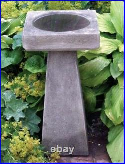 Simple Design Stone Birdbath Feeder Garden Bird Bath
