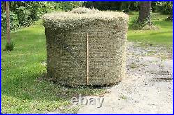 Slow Horse Hay Round Bale Net Feeder Save $$ Eliminates Waste Fits 4' x 4' Bales