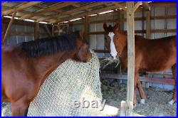 Slow Horse Hay Round Bale Net Feeder Save $$ Eliminates Waste Fits 4' x 5' Bales