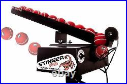 StingerPro Cricket Bowling Machine With Remote Auto-Feeder