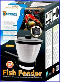 Superfish Fish Feeder Koi Pond Auto Feeder Holds 7L. Up to 24 per day. Holiday