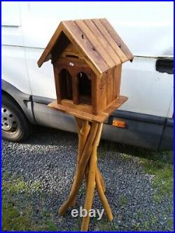 Teak Bird House Feeder 170 cm Teak Feeding Station Bird Feeder house bird bath