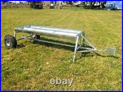 Towable trough cattle feeder heavy duty galvanised quad 4x4 tow hitch trialed