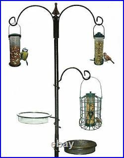 Traditional Bird Feeding Feeder Feed Station Water Bath Seed Tray Hanging Summer