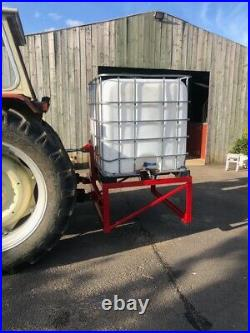 Water Bowser IBC Stand Equestrian Cattle Farm Water Feeder 3 Point Link