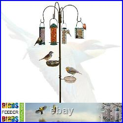 Wild Bird Feeding Station With Feeders Garden Hanging Water Bath Table Seed Tray